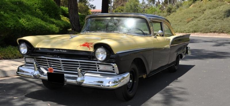 1957 ford fairlane 500 club sedan for Garage ford bonneville