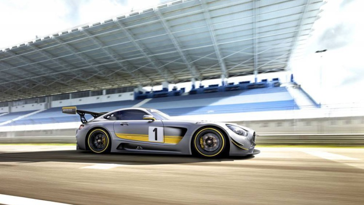 the mercedes amg gt gt3 racecar has just been unveiled