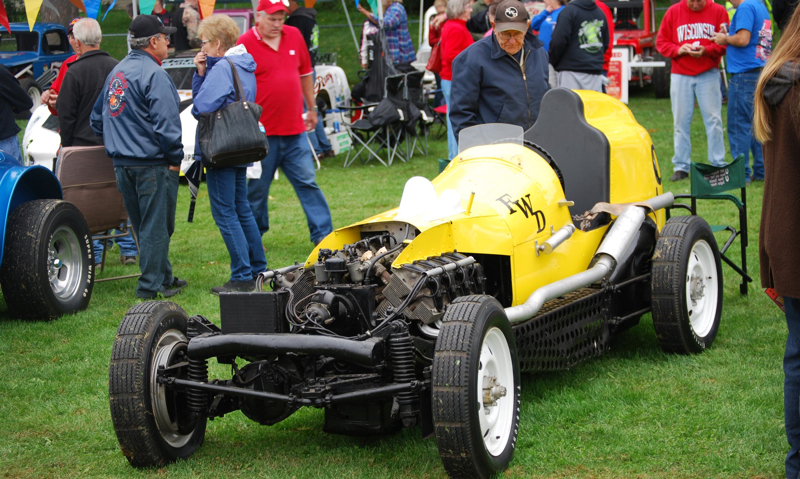 The Butterball Special racing car was built in England in 1948 and has been in the FWD Museum in Clintonville, Wis., since 1957. The FWD company had also commissioned a four-wheel-drive Miller Indy car in 1930.